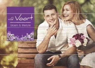 houten promotie-bord vd Voort