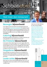flyer restaurant Schoonoord