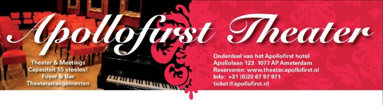 Logo/heading ontwerp Apollofirst Theater (Amsterdam).