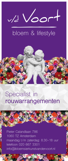 roll up banner bloemenwinkel