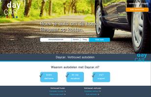 Daycar website ontwerp 2016