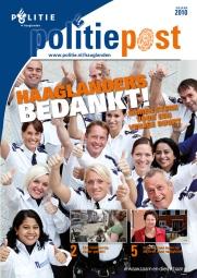 Cover PolitiePost (Haaglanden); productie vormgeving en styling fotografie.