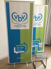 Rollup banner groot en klein + tafelnaambordjes voor stichting VBV   2019