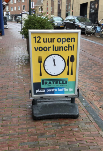 A1 poster lunch promotie