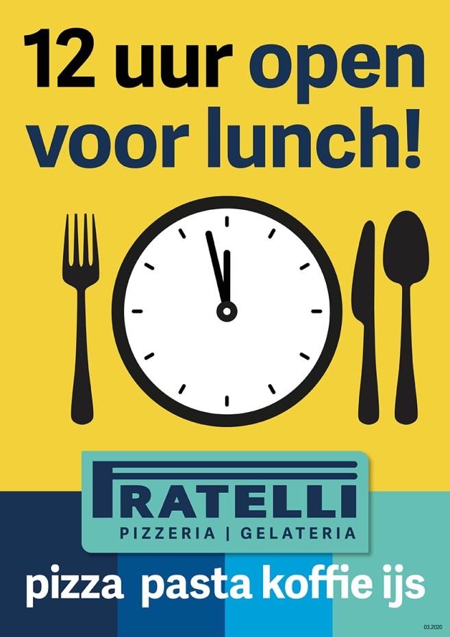 A1 poster nadruk open om 12 uur restaurant (2020).