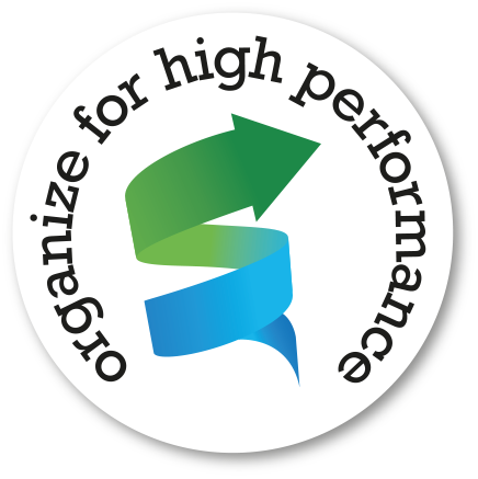 Logo onderdeel van een nieuw programma (interne communicatie). Het beeldt uit de transitie van a naar b - op naar een groene omgeving.