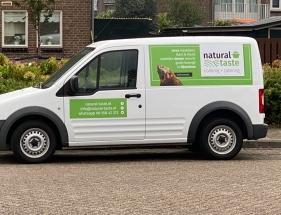 Creatie magneetstickers voor promotie doeleinden. Firma: natural-taste.nl